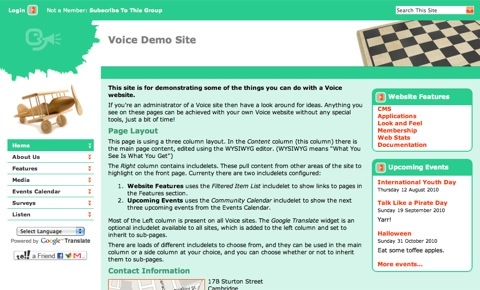 Voice Demo Site