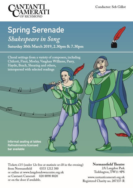 Flyer March 2019 Shakespeare in Song