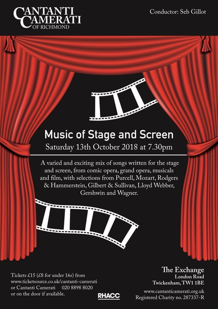 Flyer October 2018 Music of Stage and Screen best