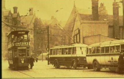Bradford New inn and Trams