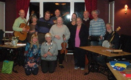 Group shot Cranleigh Folk Jan 2018