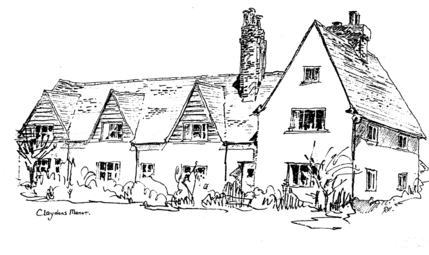 Drawing of Claydons Manor by Richard Higgins