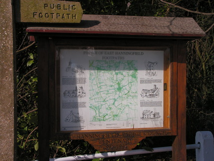 Footpaths Noticeboard