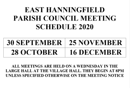 List of Meeting dates