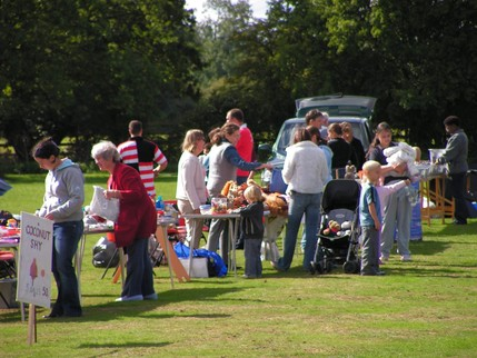 Some of the stalls at the Village Fete September 2005