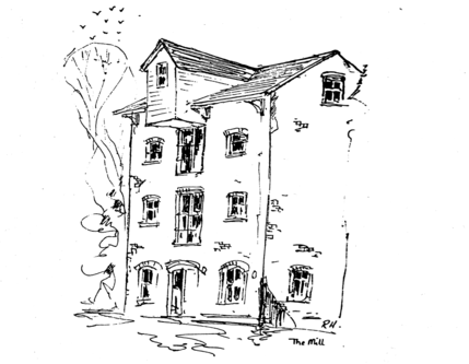 Drawing of the Mill by Richard Higgins