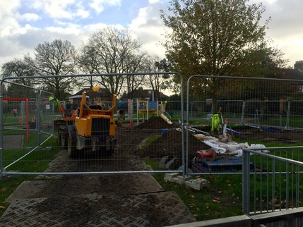 The diggers move in as work starts on the refurbishment of the park