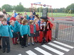 Hampton Infants show off the new play road to the Mayor