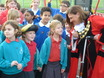 Pupils from local schools talking to the Mayor