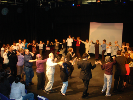circle dance at London Week of Peace concert