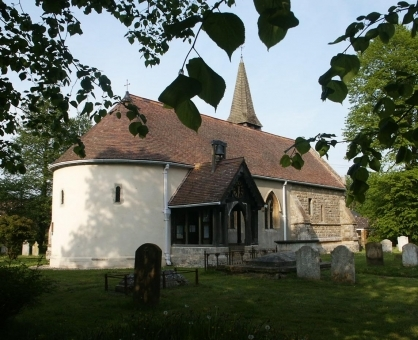 The Norman church of St Giles in Langford