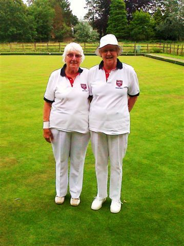 Runners Up Ladies pairs over 55's 2 woods