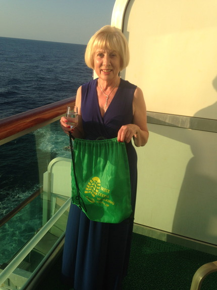 Green Bag at sea in Atlantic Sep 2017