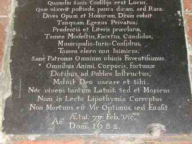 Edward Smythe grave cover (bottom)