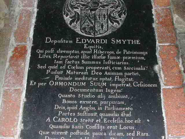 Edward Smythe grave cover (middle)